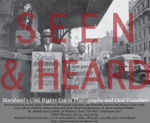 Seen & Heard panel discussion flyer